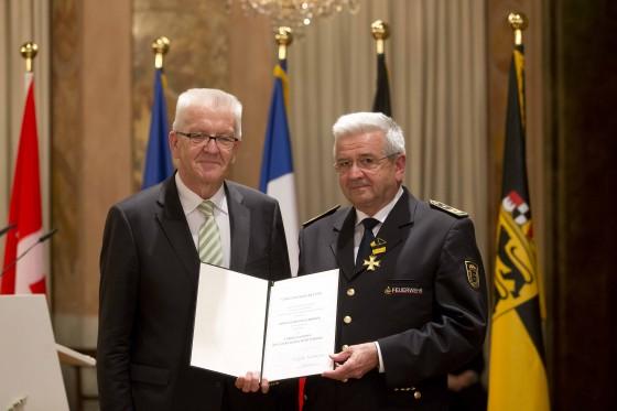 Verleihung des Dienstordens des Landes Baden-Württemberg