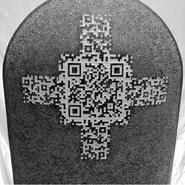 Grabstein mit QR-Code
