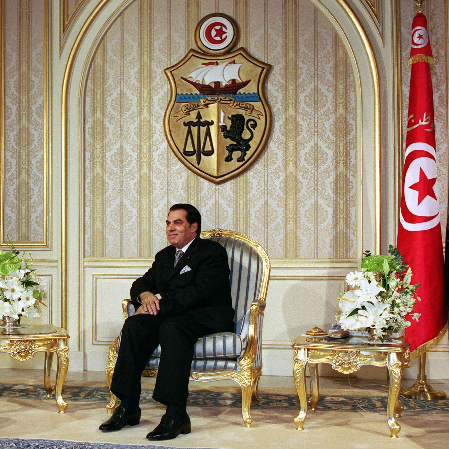 Tunesiens autokratischer Staatspräsident Zine El Abidine Ben Ali